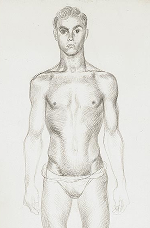 gay body, sketch by Bernard Perlin from The Advocate